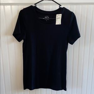 J Crew Perfect Fit Black Tee